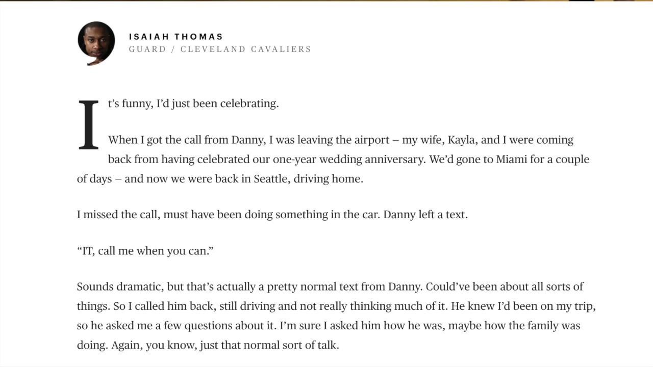 Isaiah Thomas Farewell Letter to Boston YouTube
