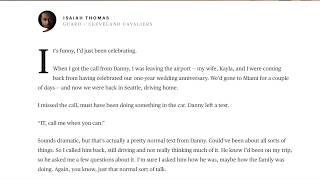 Isaiah Thomas Farewell Letter to Boston