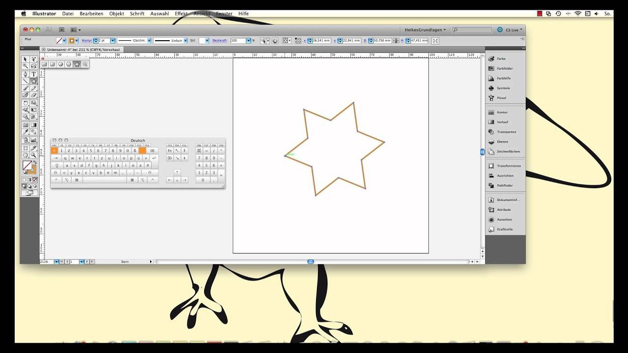 Illustrator Das Stern-Werkzeug - YouTube