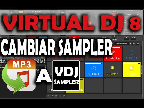 Cambiar Sampler MP3 A sampler VDJ VIRTUAL DJ 8