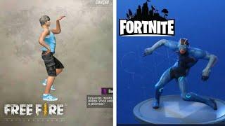 Free fire VS Fortnite emotes comparation