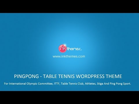PingPong: Table Tennis WordPress Theme