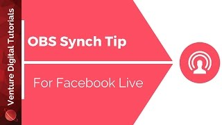 Video Tip - Fixing OBS Audio Sync Issues (Facebook Live) download MP3, 3GP, MP4, WEBM, AVI, FLV Mei 2018