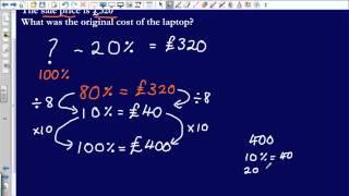 Reverse Percentages (Edexcel GCSE Maths)