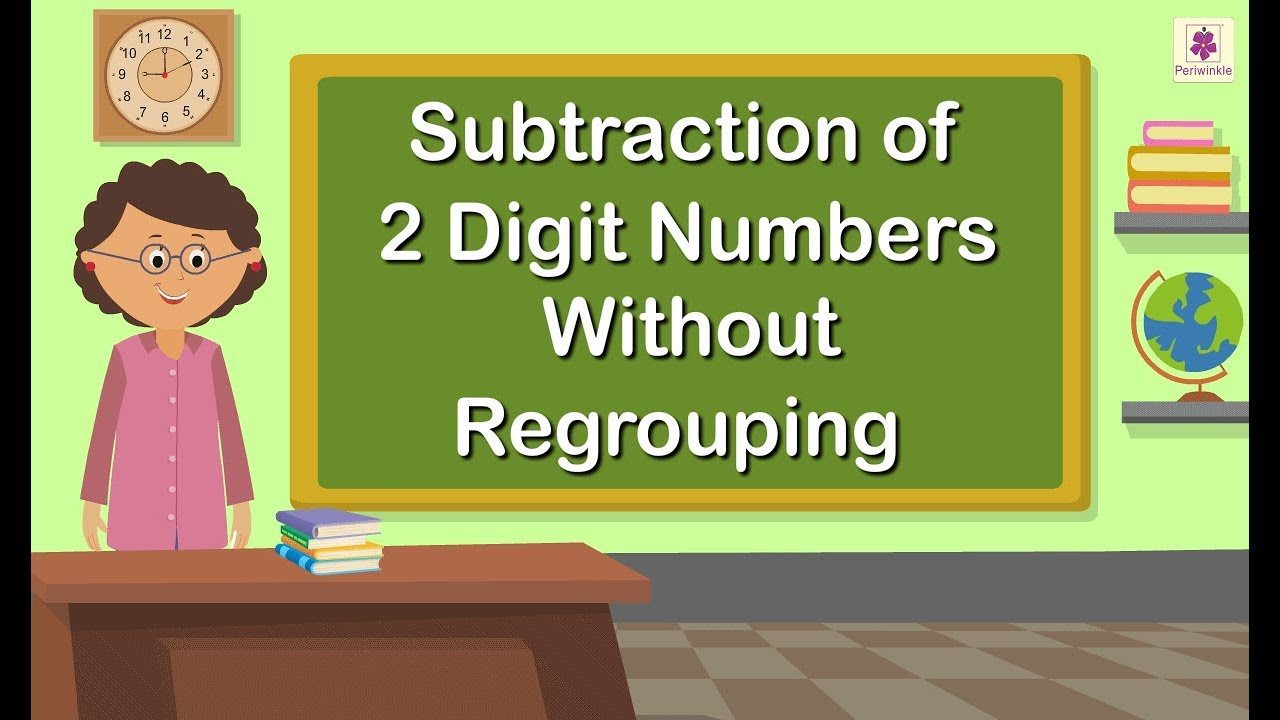 medium resolution of Subtraction of 2 Digit Numbers Without Regrouping   Grade 1 Maths For Kids    Periwinkle - YouTube