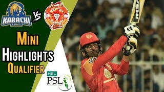 short highlights karachi kings vs islamabad united qualifier 18 march hbl psl 2018