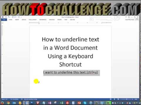 how to get rid of underline in word document