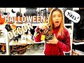 Funny girl Halloween decor shopping at Target