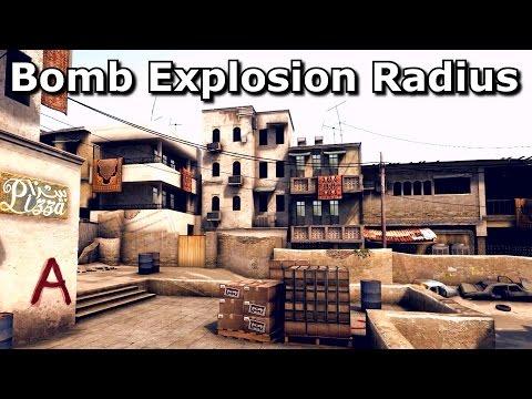 CS:GO's Bomb Explosion Radius (By 3kliksphilip)