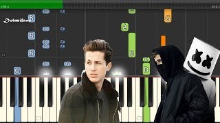 Faded - Alone - Attention Mashup (Alan Walker, Marshmello, Charlie Puth) Piano Tutorial Easy