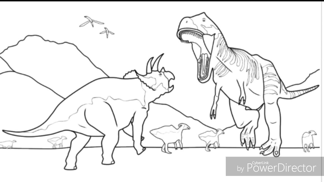 Desenhos Dos Dinossauros Aprenda A Colorir Youtube