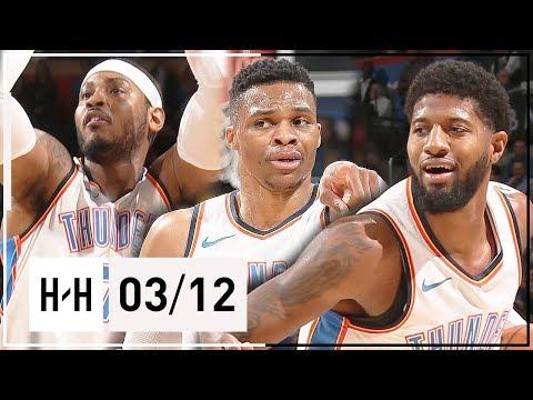 OKC Thunder BIG 3 Full Highlights vs Kings (2018.03.12) - Russell Westbrook, Paul George & Carmelo