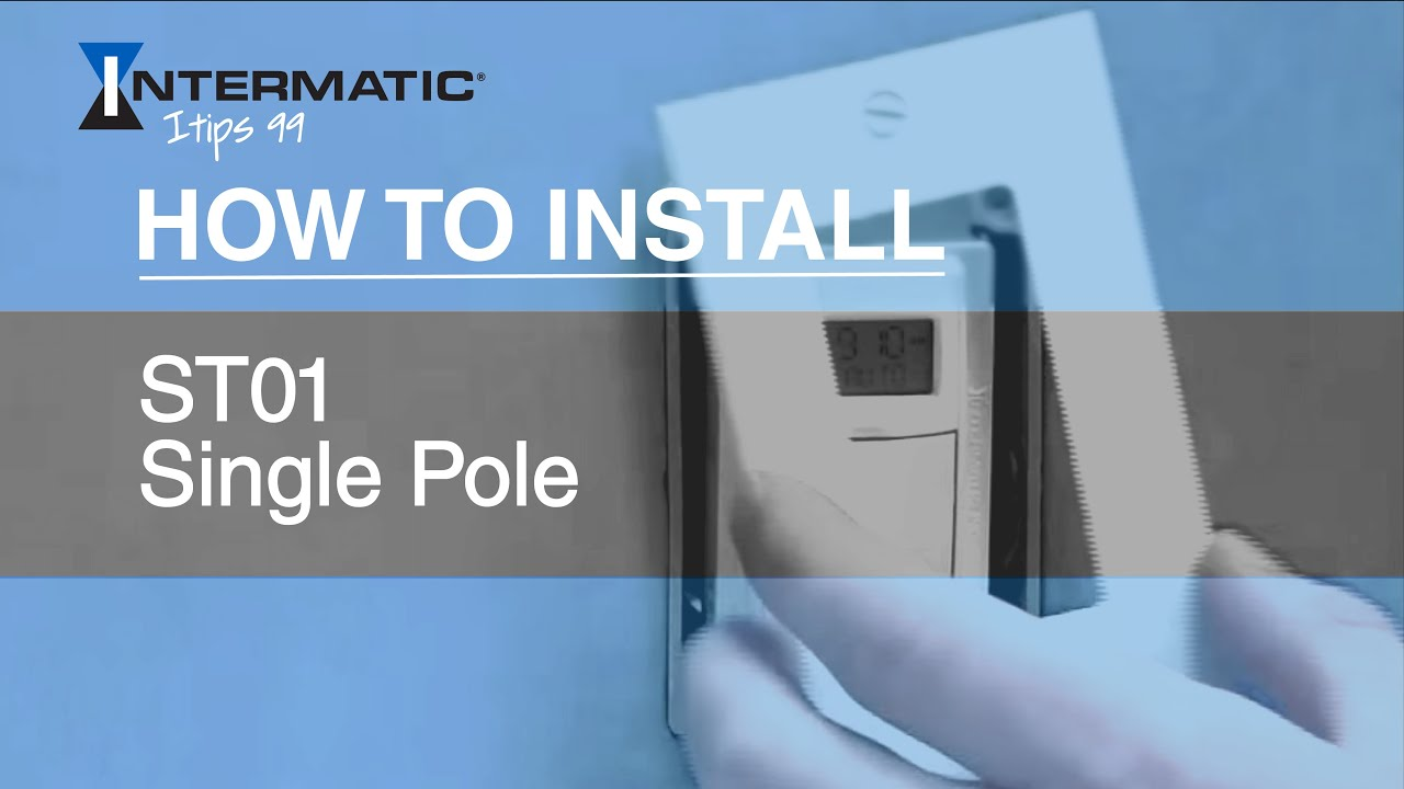 How To Install The St01 Single Pole Time Switch Youtube 3 Ways Wiring Diagram