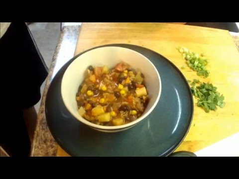 How To Make An Easy Spicy Black Bean And Vegetable Soup.