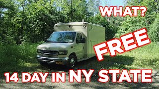 We Found Free 14 Dąy Camping in New York State   Full Time RV Life