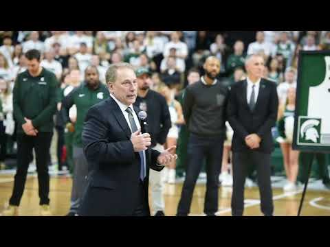 Michigan State coach Tom Izzo talks on senior night