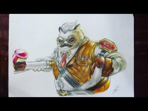 Drawing Zuka (AOV) - Vẽ Zuka Giáo sư sừng sỏ - vẽ liên quân