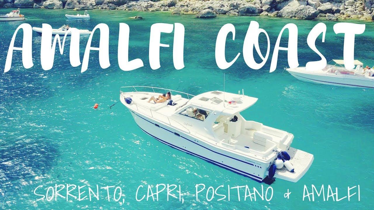Amalfi Coast Travel Vlog Part 2 Sorrento Capri Boat Tour Positano Amalfi W Dji Mavic Pro