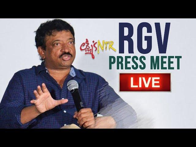 Ram Gopal Varma Press Meet LIVE   RGV Press Meet Over AP High Court Stay On Lakshmis NTR