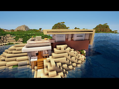 minecraft petite maison moderne de plage youtube. Black Bedroom Furniture Sets. Home Design Ideas