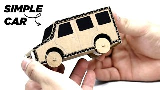 How to make a simple car from cardboard|DIY