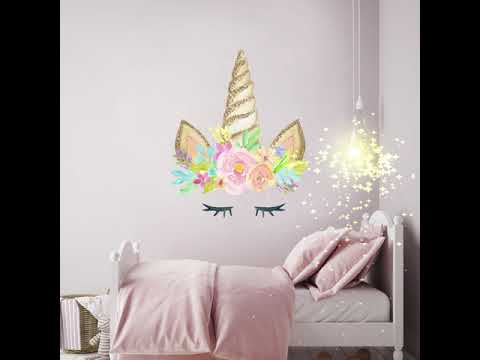 Our Unicorn Wall Stickers Are Here Youtube