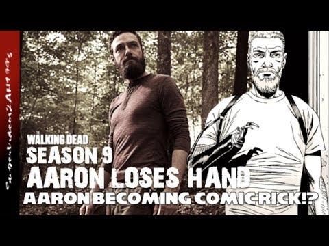 Aaron Becoming Comic Rick Aaron Loses Hand 9x02 The Walking Dead Season 9