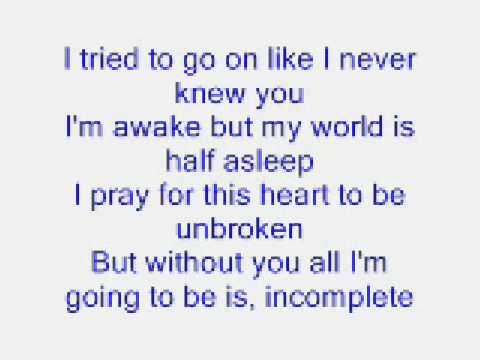 incomplete lyrics