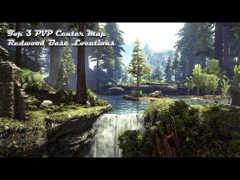 Ark: Top 3 Center Map Redwood PVP Base Locations - Most