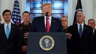 Trump alihutubia taifa, adai Iran imeufyata mkia, akanusha wanajeshi wa Marekani kuuawa