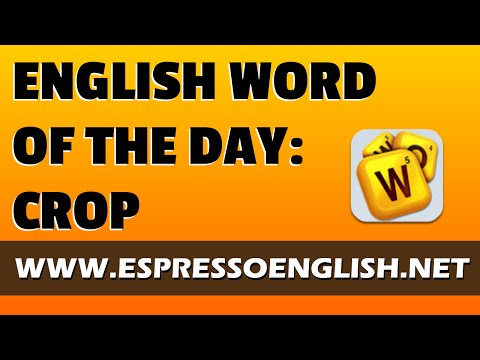 English Vocabulary Word of the Day: CROP