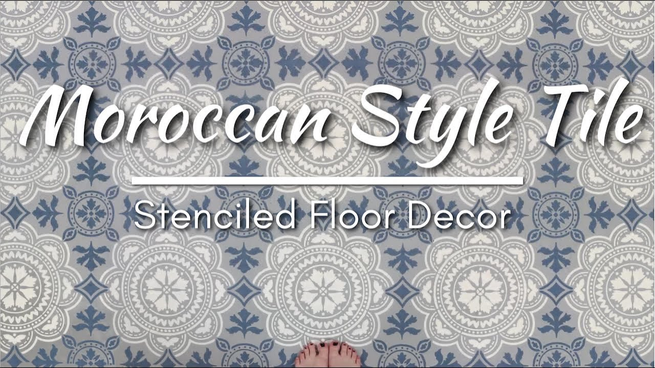 How To Stencil A Moroccan Design Tile On Floor
