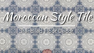 How-To Stencil A Moroccan Design Tile On A Floor