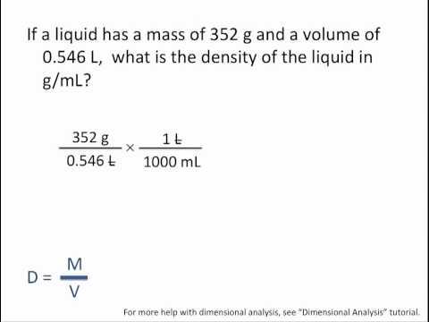 Density Calculations - Chemistry Tutorial