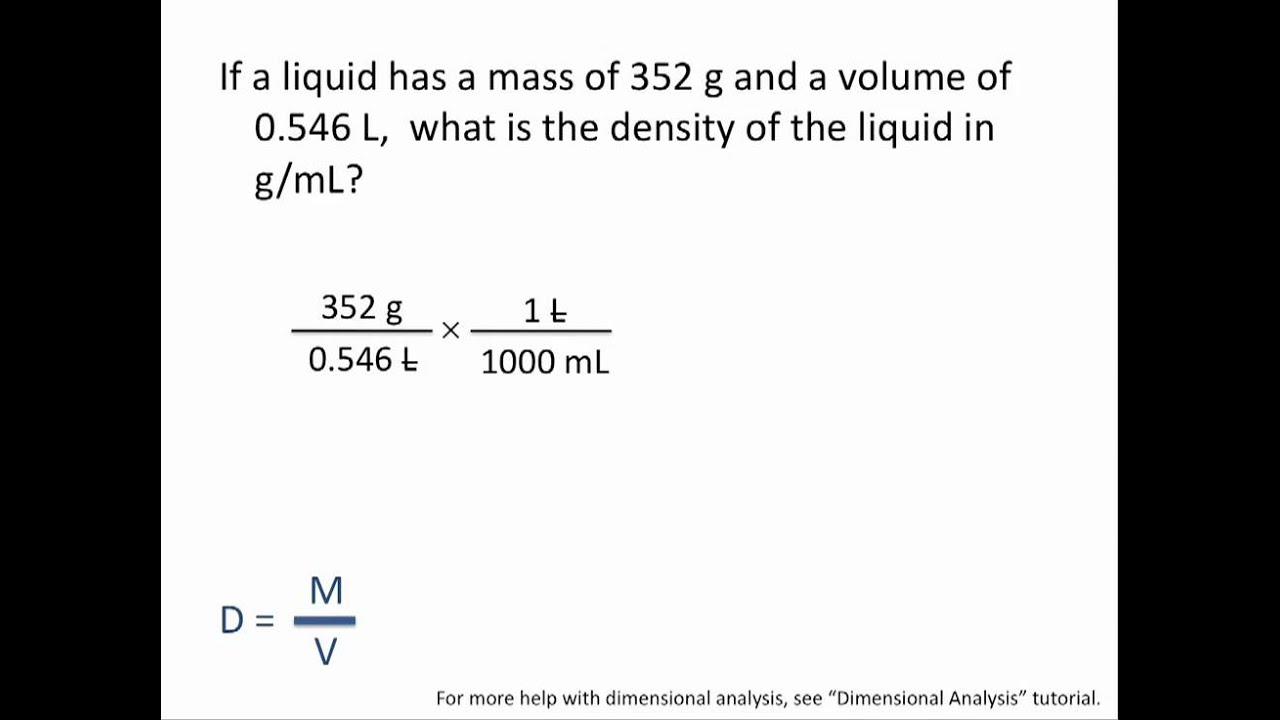 Density calculations chemistry tutorial youtube ibookread Download