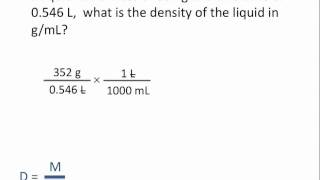 Density Calculations - Chemistry Tutorial