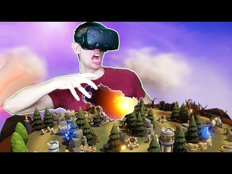 BECOMING KING + BUILDING ENTIRE SKY KINGDOMS IN VR! - Skyworld VR HTC VIVE Gameplay