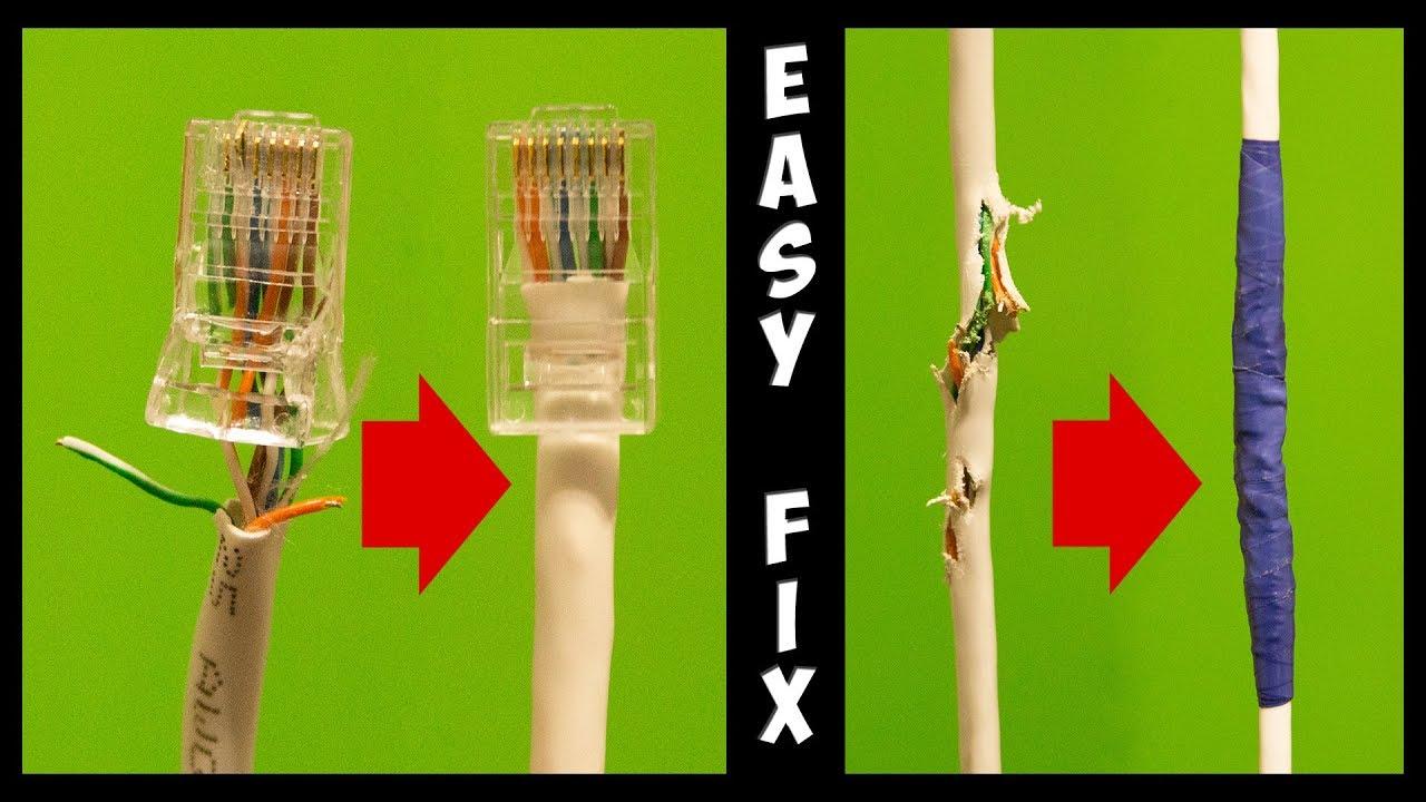 how to fix a broken ethernet cable and crimp rj45. Black Bedroom Furniture Sets. Home Design Ideas