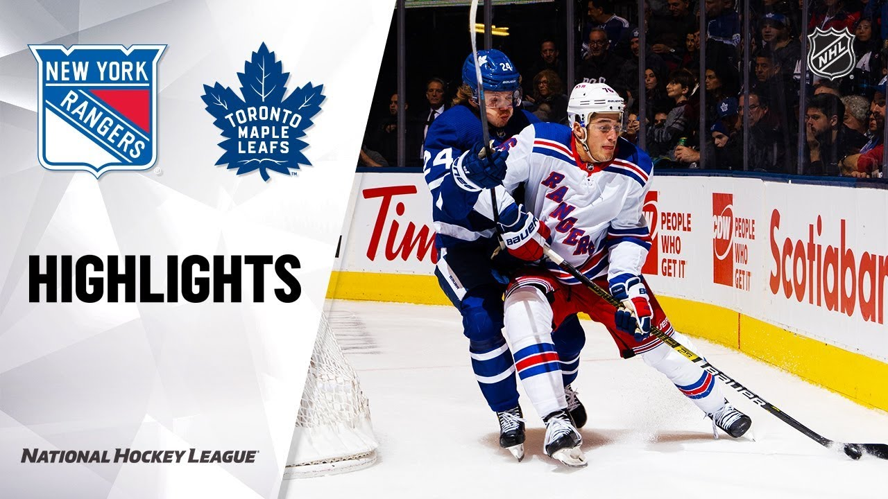 NHL Highlights | Rangers @ Maple Leafs 12/28/19