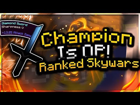 [Ranked Skywars] CHAMPION IS OP! + F3 & S'er CAUGHT