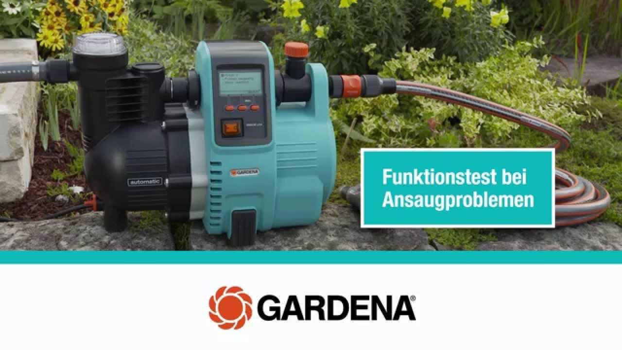 gardena ansaugprobleme hauswasserautomaten - youtube
