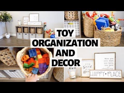 Toy Storage Organization & Decor