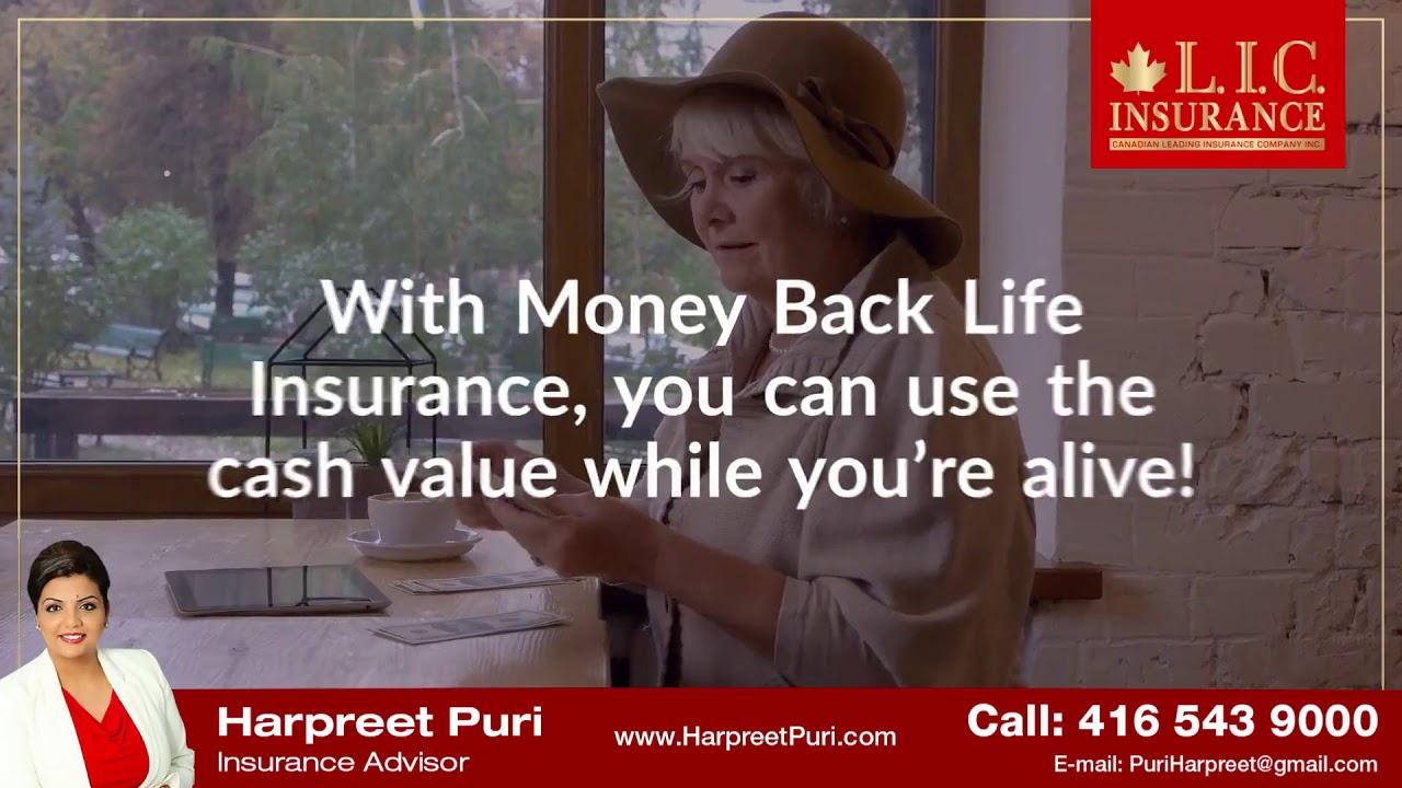 Money back life insurance - YouTube