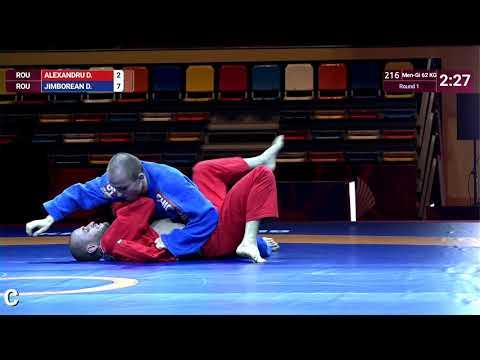 Round 1 Men-Gi - 62 kg: D. ALEXANDRU (ROU) v. D. JIMBOREAN (ROU)