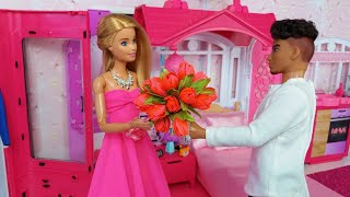 Barbie Ken Video ❤️. Life in a Dream House💕. Morning Bedroom Bathroom Routine.
