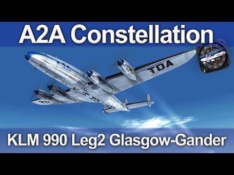 A2A L-049 Lockheed Constellation - Leg 2 - Glasgow-Gander