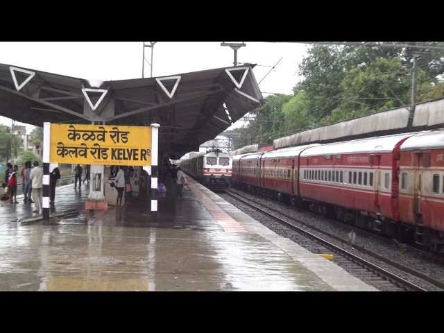 12951 RAJDHANI EXP DECIMATES 22476 CBE BKN AC EXPRESS AT KELVE ROAD Travel Video