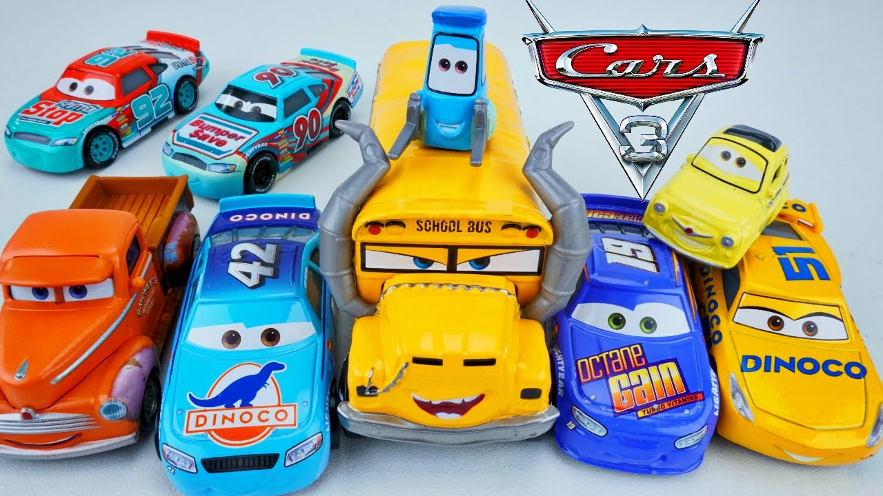 Cars 3 New Die Casts Miss Fritter Smokey Dinoco Cruz Octane Gain