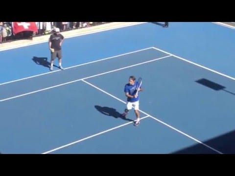 Roger Federer Practice Session - Australian Open 2013