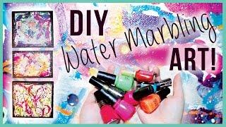 DIY Water Marble Room Art! Thumbnail